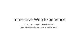 Immersive Web Experience