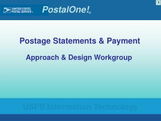 Postage Statements & Payment