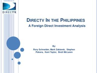 Directv  In the Philippines