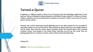 Tarteel-e-Quran