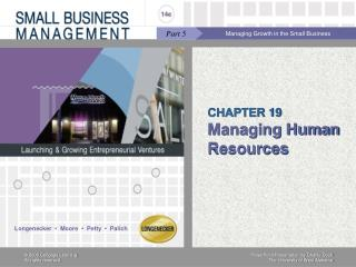 CHAPTER 19 Managing Human Resources