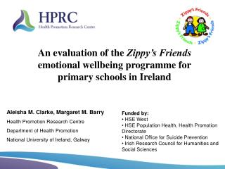 Funded by:  HSE West   HSE Population Health, Health Promotion Directorate  National Office for Suicide Prevention