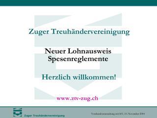 Neuer Lohnausweis Spesenreglemente Kantonale Steuerverwaltung Zug Philipp Moos Leiter Abteilung Natürliche Personen Post