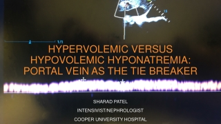 Hypervolemic versus Hypovolemic Hyponatremia: Portal Vein as the Tie Breaker