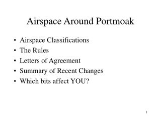 Airspace Around Portmoak