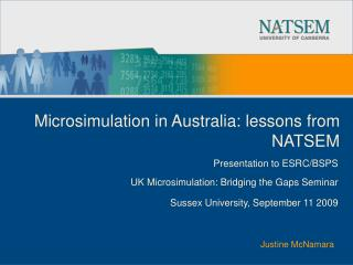 Microsimulation in Australia: lessons from NATSEM