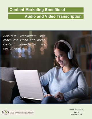 Content Marketing Benefits of Audio and Video Transcription