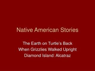 Native American Stories