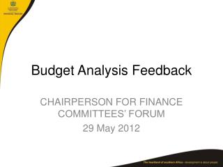 Budget Analysis Feedback