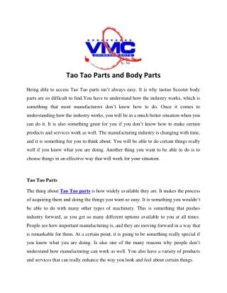 Tao Tao Parts and Body Parts