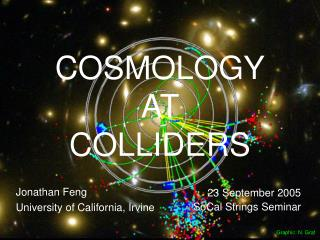 COSMOLOGY AT  COLLIDERS