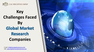 Key Challenges Faced By Global Market Research Companies