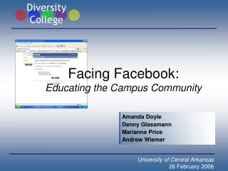 Facing Facebook: Educating the Campus Community