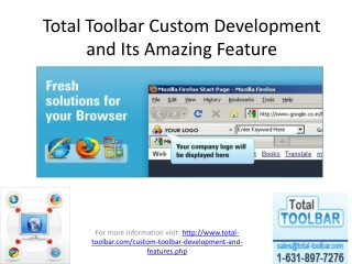 Total Toolbar Custom Development and Its Amazing Feature