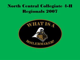 North Central Collegiate 4-H Regionals 2007