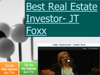 Best Real Estate Investor- JT Foxx