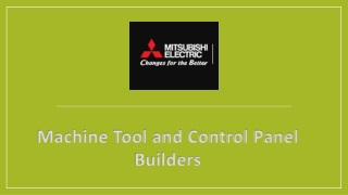 Machine Tool and Control Panel Builders