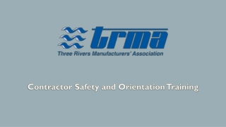 Contractor Safety and Orientation Training