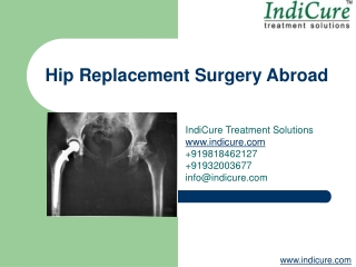 Hip Joint Replacement Surgery Abroad