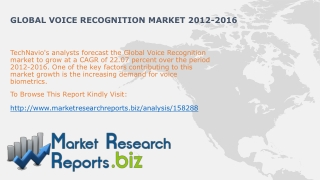 Global Voice Recognition Industry Share And Size 2012-2016:M