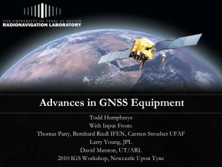 Advances in GNSS Equipment