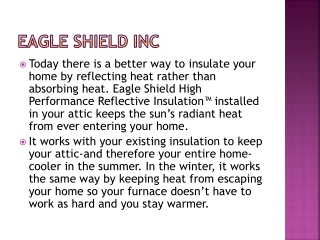 Eagle Shield Energy Saving