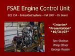FSAE Engine Control Unit