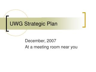 UWG Strategic Plan