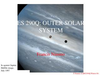 ES 290Q: OUTER SOLAR SYSTEM