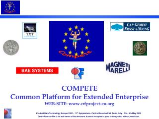 COMPETE Common Platform for Extended Enterprise WEB-SITE: crfproject-eu
