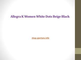 Allegra K Women White Dots Beige Black