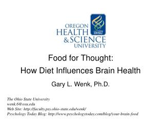 Food for Thought:  How Diet Influences Brain Health