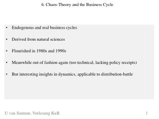 6. Chaos-Theory and the Business Cycle