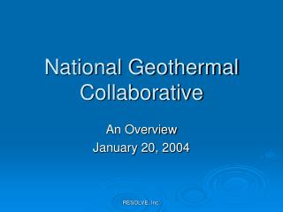 National Geothermal Collaborative