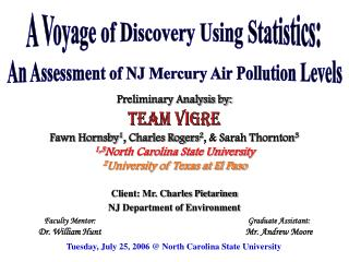Client: Mr. Charles Pietarinen NJ Department of Environment