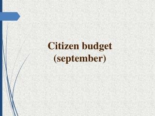 Citizen budget ( september )
