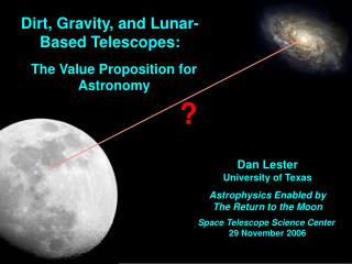 Dirt, Gravity, and Lunar-Based Telescopes: