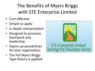 The Benefits of Myers Briggs with STE Enterprise Limited