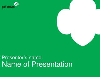 Presenter s name Name of Presentation