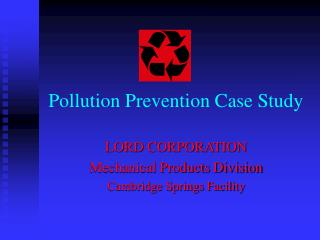 Pollution Prevention Case Study