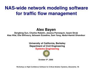 NAS-wide network modeling software for traffic flow management
