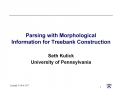 Parsing with Morphological Information for Treebank Construction