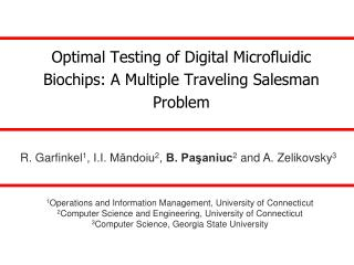 Optimal Testing of Digital Microfluidic Biochips: A Multiple Traveling Salesman Problem