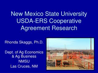 New Mexico State University USDA-ERS Cooperative Agreement Research