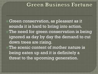 Energy conservation idea