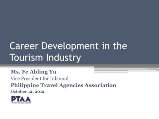 Career Development in the Tourism Industry