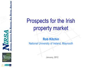 Prospects for the Irish  property market