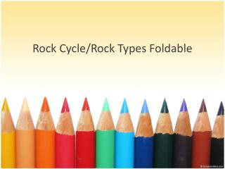 Rock Cycle/Rock Types  Foldable