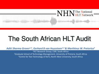 The South African  HLT  Audit