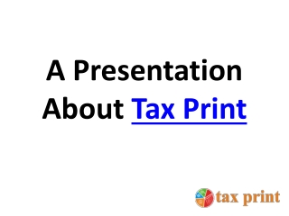 Tax Related Softwares by Tax Print